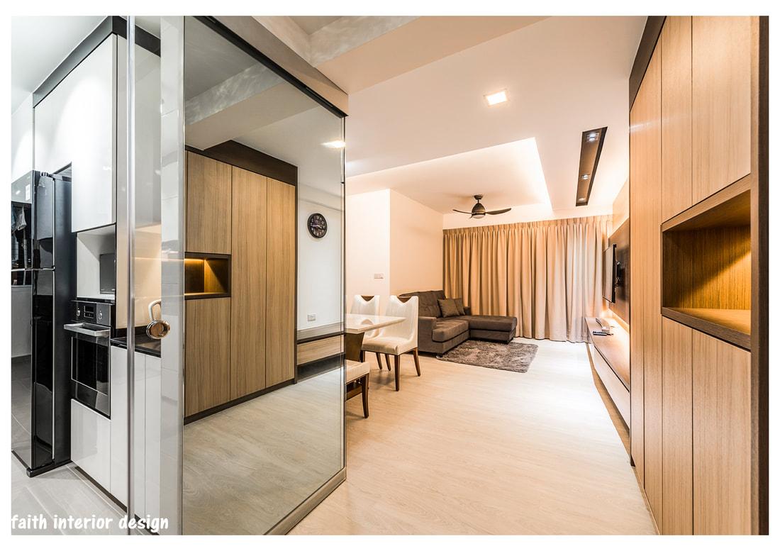 Foyer Design Hdb : Bto room sengkang contemporary hdb home renovation